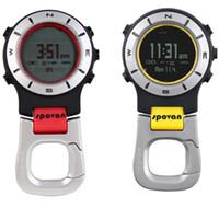Wholesale Handheld Compass - Wholesale-Spovan Elementum II Multifunction Waterproof Outdoor Sports Handheld Watch Barometer Altimeter Thermometer Compass Stopwatch