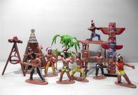 Wholesale Native Dolls - Wholesale- 13pcs set American Art Decoration Indian Tribes Model Toy Doll Figure Native