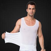 e2a8ec1deaaa4 male body shaper waist trainer vest black white tummy tuck belt weight loss  corset belly reducer stomach girdle for men M