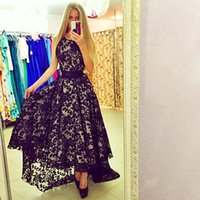 Wholesale women wearing cute dresses - Women New Black Fashion Evening Dresses Sleeveless Cute Wear Lace Dress Summer Style Vestido De Festa 2015 Maxi Dress Party Evening Gowns