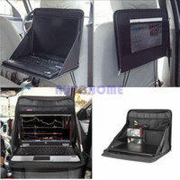 ingrosso tracce di sostegno-1 X Laptop Car Holder Vassoio Bag Mount Back Seat Auto Table Food Work Desk Organizer ordine $ 18no track