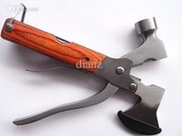 Wholesale Multifunctional Axe Hammer - High quality multifunctional Axe hammer axe saw knife corkscrew multifunctions camping tool