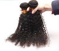 Wholesale Deep Weave Brazillian Hair - Brazilian deep curly virgin hair,brazillian curly hair afro kinky curly virgin hair weaves human hair extension 2 3pcs lot