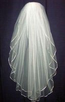Wholesale Cheap Embroidered Wedding Dresses - 2015 Free shipping New White Or Ivory Bride Bridesmaid Wedding dress Accessories Veil for romantic Wedding new cheap and high quality
