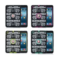 Protectores De Ipad Animales Del Silicón Baratos-Defender Heavy Duty Hybrid Flower Mandala Gel de silicona para el elefante + PC Hard Case Tableta antichoque para Ipad Mini 1 2 3 7.9 '' Skin piel de Apple