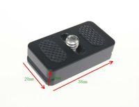 Wholesale Quick Release Mount Plate - Wholesale-Tiny Camera Body Mount Quick Release Plate 20mm QR Arca Compatible fit RRS Manfrotto w  1 4'' Captive Screw