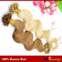 "Wholesale U Tip Hair Extensions 22 - XCSUNNY 18"" 20"" Natural Hair Extensions Keratin Nail Tip U Tip Hair Extensions 100g 1g s Peruvian Remy Hair Extensions Stock"