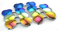 Wholesale Wholesale Wayfarer Sunglasses Mirror - Retro Sunglasses for Men and Women Face Ultra Full Heart Box Lenses Round Super Quality Special Gold Frame Blue Film Hot