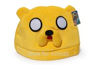 Wholesale Jake Caps - Wholesale-10pcs Adventure Time Jake Finn Plush Hat Beanies Cosplay Cap For Adult