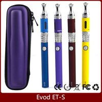 Wholesale Clearomizer Battery Charger - EVOD ETS Starter Kit Aspire ETS BDC Clearomizer Glass Tube 3ML Vaporizer EVOD Battery 650 900 1100mah with eGo Charger E Cigarette Kits