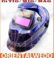 Wholesale Solar Auto Welding Mask - Solar Auto Darkening Welding Helmet Arc Tig Arc MAG Mask blue welder wholesale new brand free shipping
