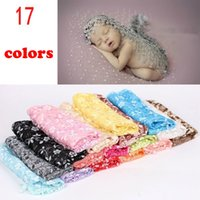 Wholesale Lace Baby Blanket - 140*40cm Baby Photography Props Infant Wraps Blankets Newborn Photography Wraps Lace Flowers Baby Swaddling C3047