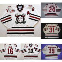 Wholesale 24 Ted - Customize WHL Red Deer Rebels 24 Doug Lynch 19 Ted Vandermeer 16 Brennen Wray 31 Gorchynski Mens Womens Ice Ice Hockey Jerseys Goalit Cut