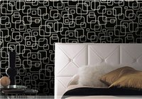 Wholesale Vinyl Wallcovering Wholesalers - Geometric wallpaper 3d abstract wallpapers non-woven wallcovering background wall modern wallpaper black for living room