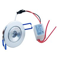 Wholesale Recessed Lighting Kits - Specification: Input Voltage AC 85-265V 1W LED Ceiling Fixture Downlight Light Recessed Cabinet Complete Kits Lamp