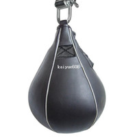 Wholesale Leather Ceiling - Leather Vertical Boxing Speed ball Ceiling Ball Sport Speed Bag Punch Exercise Punching training ball Fitness Speedbag TK0772