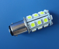 Wholesale 12v 1142 - BA15D 1142 LED bulb Boat lights 24-5050 SMD Super Bright 300LM AC DC 12~28V DC12V White or Warm White