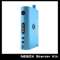 Wholesale E Cigarette Kanger Battery - Wholesale - Kanger New Nebox Starter Kit Temperature Control Mod E cigarette 18650 Battery Nebox With 10ml Capacity Tank