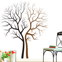 Wholesale Love Nature Wall - Two Naked Trees Wall Art Mural Decal Sticker Living Room Bedroom Background Loving Tree Wall Decor Poster 85 x 100CM