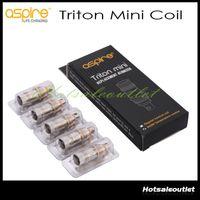 streben triton spulenköpfe großhandel-Authentische Aspire Triton Mini Zerstäuberköpfe Ersatzspulen 0,15 Ohm 1,2 Ohm 1,8 Ohm Triton Mini Spulen für Aspire Triton Mini Nautilus Mini
