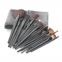 Wholesale Makeup Roll Case - 32pcs Professional Makeup Brushes Make Up Cosmetic Brush Set Kit Tool + Roll Up Case free shipping