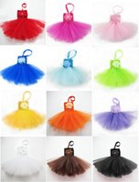 Wholesale Pettiskirt High Quality - 12 colors High quality candy colors baby girl's tutu dress one-piece dress Soft tutu skirt ballet skirt pettiskirt clothes 0-2years