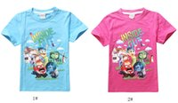 Wholesale Inside Children Clothing - New children T-Shirt Inside Out Clothes Fashion Summer Children T Shirt for 2-6 Years Girls boys Casual Kids Clothes