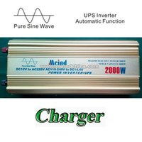 Wholesale Ac Dc Power Inverters - 2000W Power Inverter with UPS Pure Sine Wave DC to AC Converter Car inverters AC Adapter Watt Inverter Power Supply Wave Inverter Meind