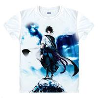 Wholesale Men S One Piece - Wholesale-Guardian Angel T Shirt Naruto Sasuke T-shirt One Piece Anime Tee Shirt 3D Cartoon Print Short Sleeve School Classmate Cute Wear