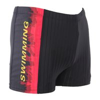 Wholesale Flame Swimming Trunks - Wholesale-Men Swimming Trunks Flame Professional Waterproof Breathable And Comfortable Drainage Line Dry Spot Adult JFJ31