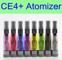 ingrosso x6 serbatoi di vaporizzatore-10 pezzi per lotto CE4 + plus Atomizzatore 1.6 ml bobina sostituibile 8 colori serbatoio vaporizzatore clearomizer per batteria ego EVOD X6 X9