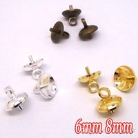 Wholesale-200piece / lot, Antique Bronze-Silver Plated-Gold Plated 6-8MM CAP CONECTOR CLASP para DIY GLASS GLOBE VIALSBOTTLES