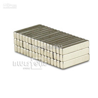rare earth magnets großhandel-100 stücke Starke Bar Blockmagnete Rare Earth Neodym 15x3x2mm