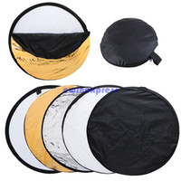 Wholesale 24 quot inch cm in Portable Collapsible Light Round Photography Reflector Studio Reflector Photo Studio Accessories