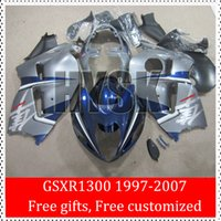 Wholesale Custom Sportbike Fairings - For Suzuki GSXR1300 GSX-R1300 GSXR 1300 97 98 99 00 01 02 03 04 05 06 07 OEM Hayabusa Sportbike Fairing Body kits Custom Free ABS Bodywork