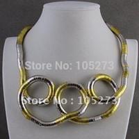 "Wholesale Twisty Bendy Necklaces - Wholesale-Wholesale Hot sale Trendy bendy ""snake"" Necklace Bendable Bendy Twisty fashion jewelry necklace& bracelet free"