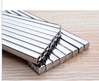 ingrosso bacchette di acciaio inossidabile di alta qualità-Bacchette in acciaio inossidabile 304 di alta qualità con bacchette quadrate. bacchette in acciaio inox ristorante dell'hotel 50 pezzi