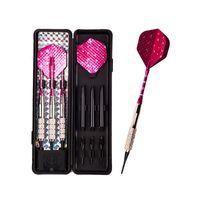 Wholesale darts sets - 3 pcs set 16g High quality electronic dart anti-throw antiskid professional soft tip darts red aluminum foil wing dart set