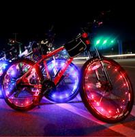 fio falado venda por atacado-20LED Colorido Bicicleta Flash LED Luz Da Montanha Da Bicicleta Da Estrada de Ciclismo roda Falou lâmpadas 2 m fio de fio decoração lâmpada de iluminação da roda quente