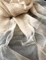 Wholesale wholesale linen summer scarves - New Women summer beach long scarfs solid color linen material soft size 180 mm