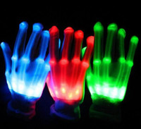 Wholesale Wholesale Christmas Novelty Items - LED lighting gloves flashing cosplay novelty glove led light toy item flash gloves for Halloween Christmas Party
