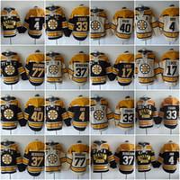 Wholesale zdeno chara - Boston Bruins Hoodies Jerseys 4 Bobby Orr 33 Zdeno Chara 37 Patrice 77 Ray Bourque 63 Brad Marchand 17 Milan Hockey Hooded Sweats