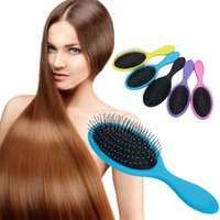 Wholesale c comb for sale - Group buy Hair Brush For Lady Hairs Care Styling Hair Massage Comb Anti Static Multi Color wm C R