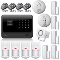 hırsız hırsız alarm sistemi toptan satış-APP Kontrol Priz Kablosuz Hırsız Hırsız Güvenlik wifi Kablosuz Alarm ile GSM Alarm Sistemi G90B Dedektörü