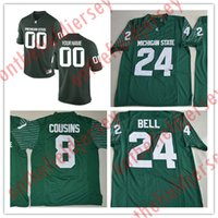 0c7e7fde02e Custom Michigan State Spartans College Football Jersey Mens Limited green  Personalized Stitched Any Name Any Number Jerseys S-3XL ...