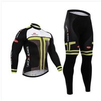 Wholesale Cheap Winter Cycling Pants Men - factory price Cheap summer men cycling Jersey sets in winter autumn with long sleeve bike jacket & (bib) pants in cycling clothing