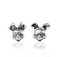 mücevher diy kolye toptan satış-Başlangıç 20 adet Mick Mini Alaşım Charm Boncuk Gevşek Big Hole Moda Kadınlar Takı Çarpıcı Avrupa Tarzı DIY Bilezik Kolye Için