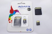 Wholesale Adata Flash Card - 128GB ADATA Micro SD card TF Memory Card 128GB Flash Micro SD SDHC Cards With Adapter Retail Package for samsung huawei 60pcs lot