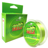 Wholesale Daiwa Line Nylon - 100M Fishing line 0.6-8.0 Super Soft Good Quality Green Nylon Line Fishing Line Tough Wear Like Daiwa Fishing Tackle Pesca