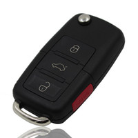 Wholesale golf cars vw - VW Polo Passat B5 B6 golf 4 5 6 Touran Bora Jetta 3+1 4 Buttons Replacement Car Key Shell with Red Panic Button
